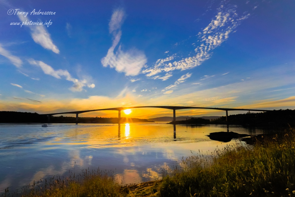 Nydelig solnedgang - Salstraumen