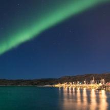 Bodø havn i Nordlys-5891