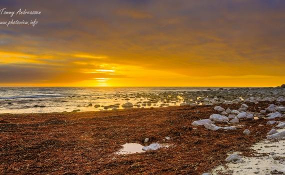 Solnedgang Eggum i Lofoten